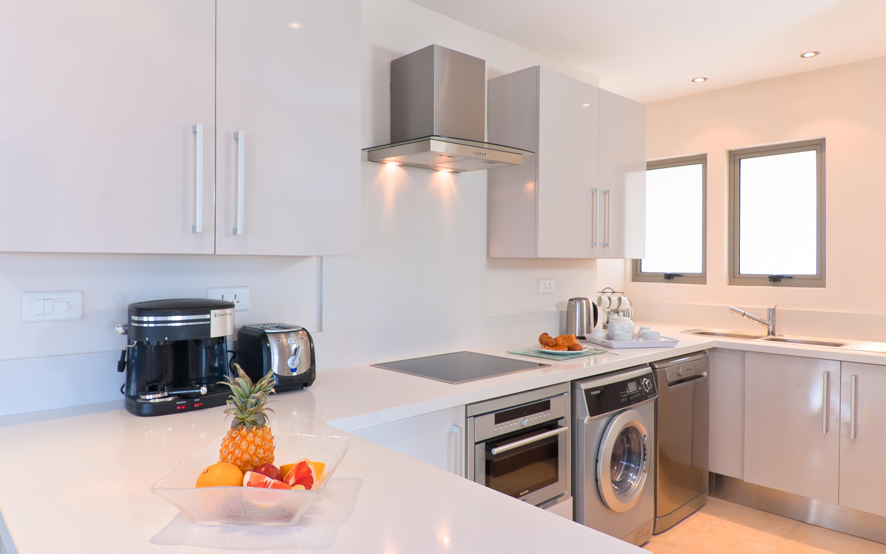 Bon Azur Elegant Suites and Penthouses Fully Equip Kitchen