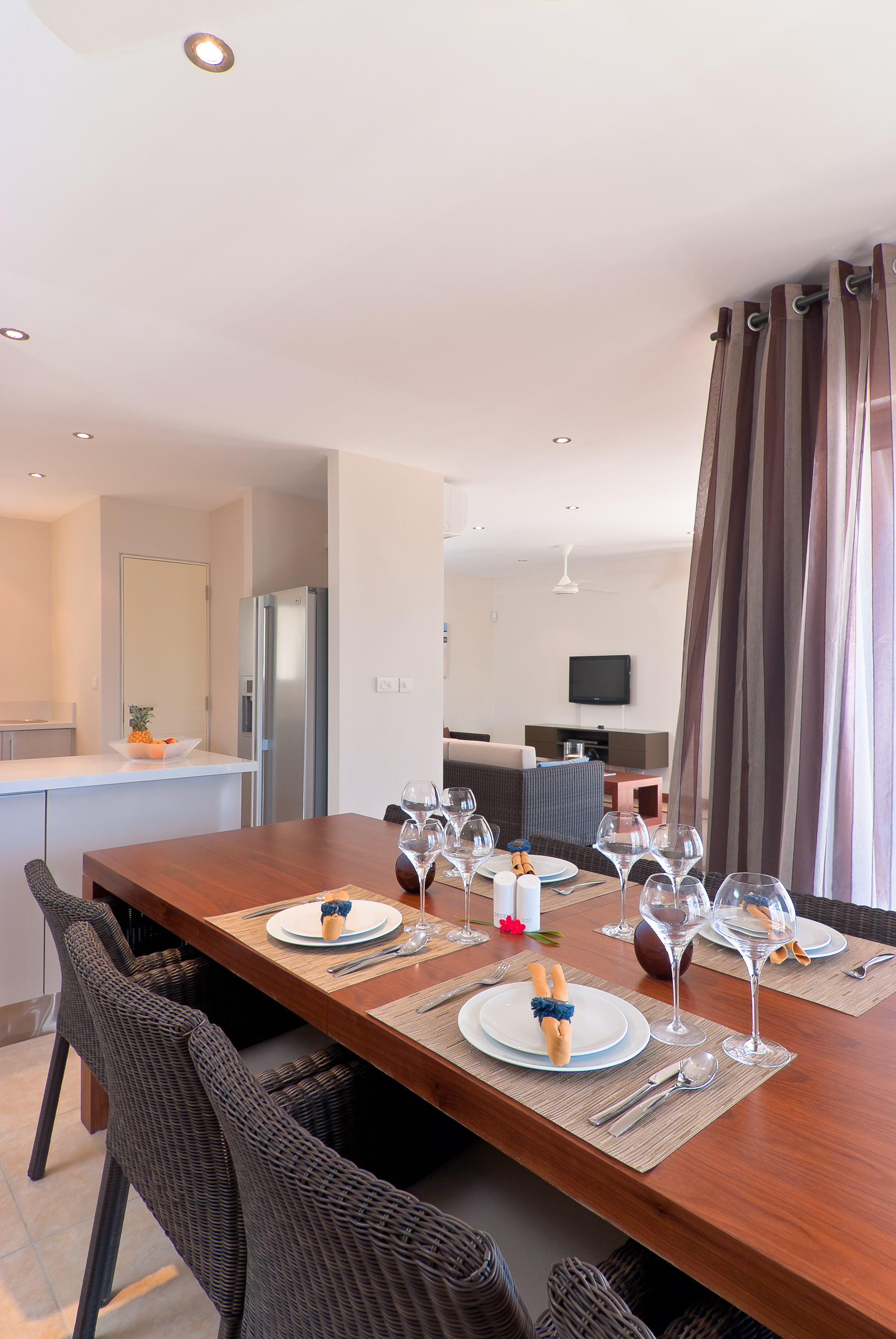 Bon Azur Elegant Suites and Penthouses Fully Euip Kitchen Interior dinning area lounge 2