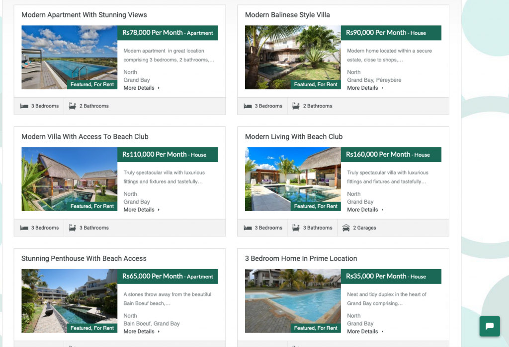 list of property to rent in mauritius